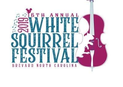 2019 white squirrel festival logo